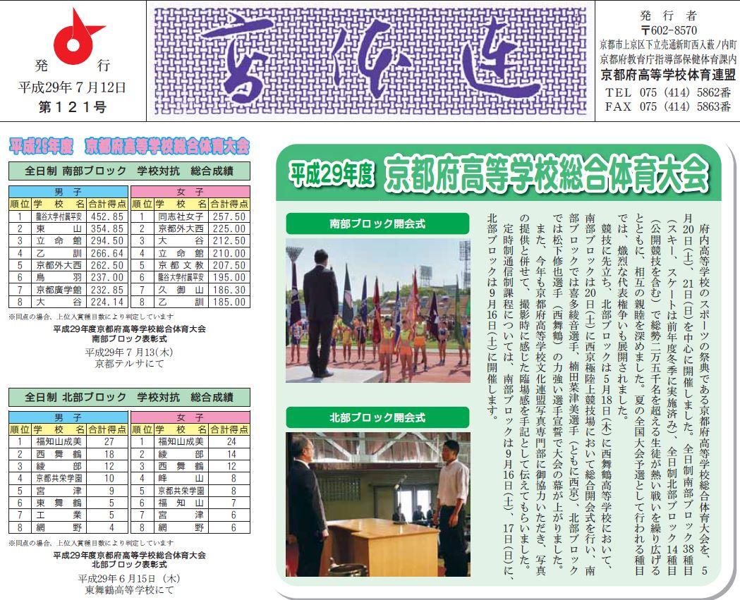 高体連新聞121号を発行しました。