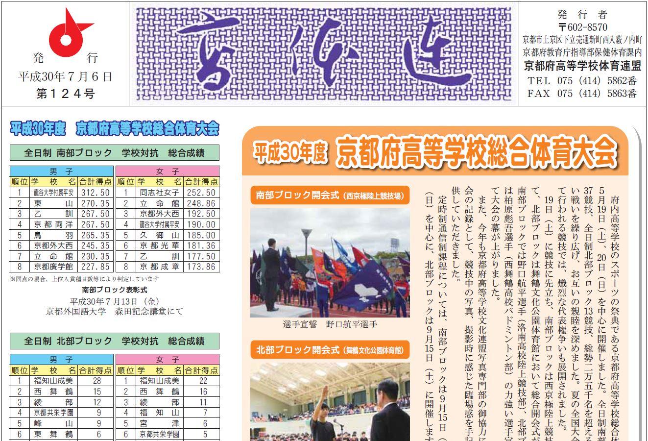高体連新聞124号を発行しました。
